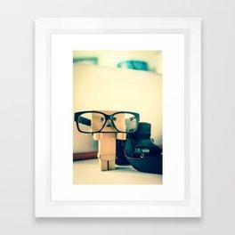 Hipster Danbo Framed Art Print