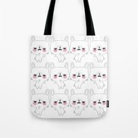 kawaii Tote Bags featuring kawaii by Beatrice Bogoni