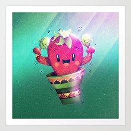 Strawberry Cactus Art Print