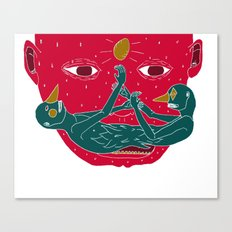 Burning mustache Canvas Print