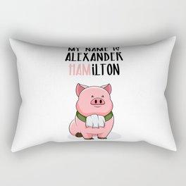 Alexander Hamilton Pig Piggy Ham BBQ Musical Rectangular Pillow