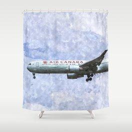 Air Canada Boeing 777 Art Shower Curtain