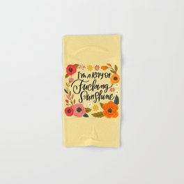 Pretty Swe*ry: I'm a Ray of Fucking Sunshine Hand & Bath Towel