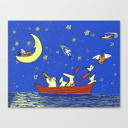 Dogs with Wings Canvas Print