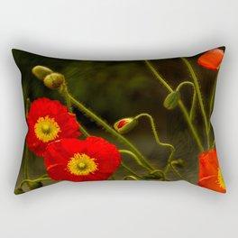 Yang Poppies Rectangular Pillow