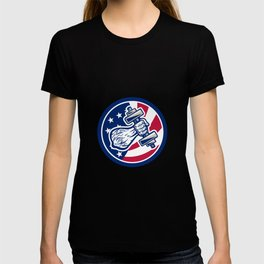 American Personal Trainer USA Flag Icon T-shirt
