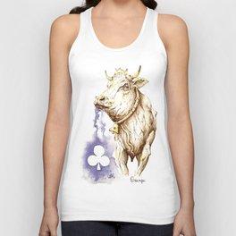 Cow - Queen of Flowers Unisex Tank Top