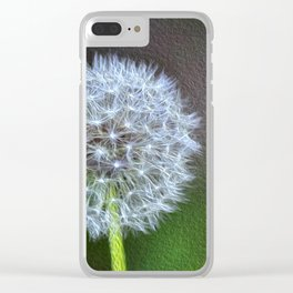 Dandelion ready to fly away - op Clear iPhone Case