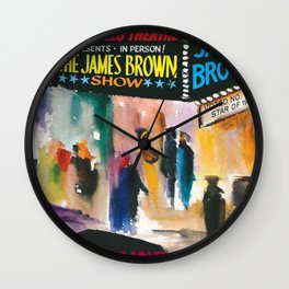 The Apollo Theater of Harlem Present James Brown Live Portrait Wall Clock