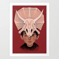 Dinohead Art Print