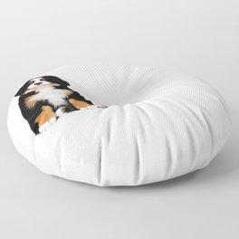 Bernese mountain dog puppy Floor Pillow
