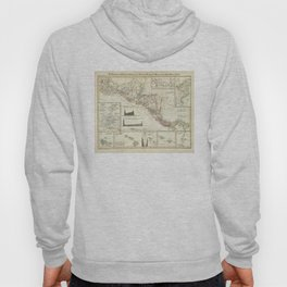 Vintage Map of Central America (1840) Hoody