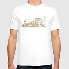Two Buildings MEDIUM Mens Fitted Tee White