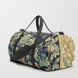 William Morris Northern Garden with Daffodils, Dogwood, & Calla Lily Floral Textile Print Duffle Bag