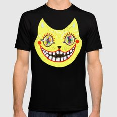 Cheshire Cat Mens Fitted Tee SMALL Black