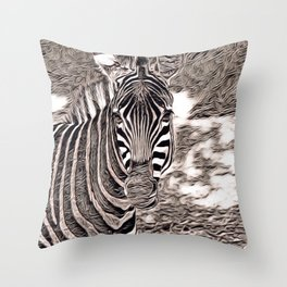 Rustic Style - Zebra Throw Pillow
