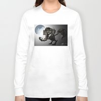werewolf Long Sleeve T-shirts featuring Werewolf by Michelena