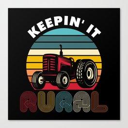 Farmer Farm Trekker Tractor Canvas Print