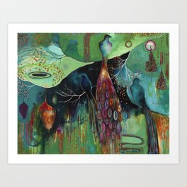 """Light Trio"" Original Painting by Flora Bowley Art Print"
