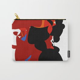 Red Black Forest Colorful Abstraction Digital Art - RegiaArt Carry-All Pouch