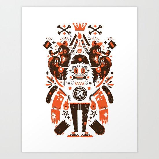Newfren Monsters Art Print