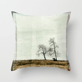 Trees Without Leaves Throw Pillow