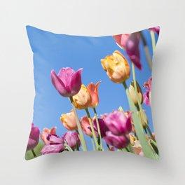 Skyway Tulips Throw Pillow