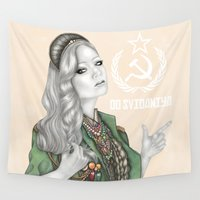 revolution Wall Tapestries featuring Russian Revolution by Sara Elan Donati