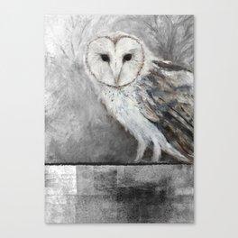 La Chouette-effraie - The Barn Owl Canvas Print