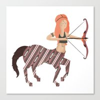 archer Canvas Prints featuring ARCHER by Kiley Victoria