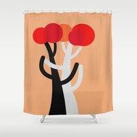 blankets Shower Curtains featuring Let's dance! by R Jordan