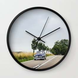 Retro roadtrip Wall Clock