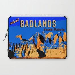 Visit Badlands Retro Postcard Laptop Sleeve