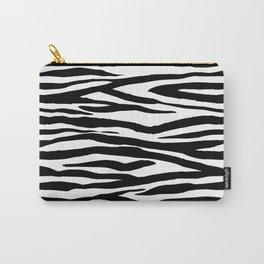 Zebra StripesPattern Black And White Carry-All Pouch