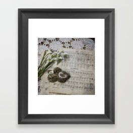 Snowdrops and Vintage Watches Framed Art Print