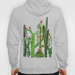Green Simple Cacti Hoody