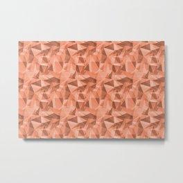 Abstract Geometrical Triangle Patterns 3 VA Fringe Orange - Orange Slice - Fiery Sky Orange - Heirlo Metal Print