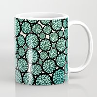 trees Mugs featuring Blooming Trees by Pom Graphic Design