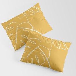 Monstera minimal - yellow Pillow Sham