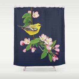 Blue-Winged Warbler Bird Art Shower Curtain