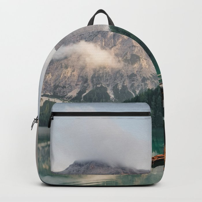 Mountain Lake Cabin Retreat Backpack