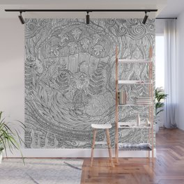 The Wolf and Seven Little Kids Wall Mural