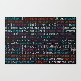 Computer Science Code Canvas Print