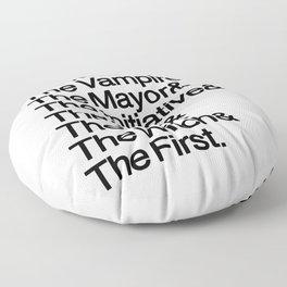 The Big Bads Floor Pillow