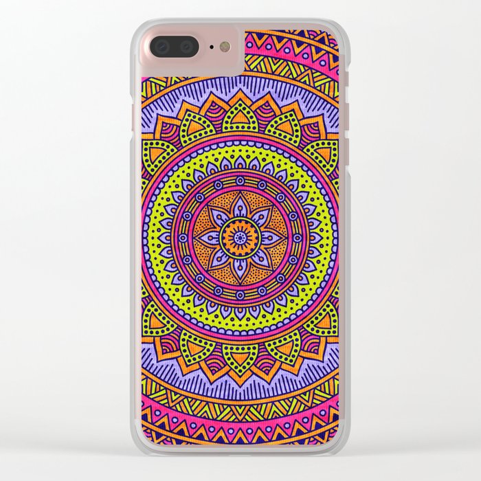 Hippie mandala 56 Clear iPhone Case