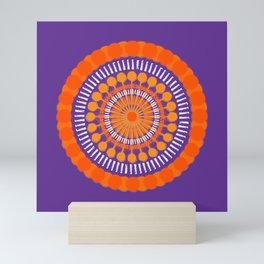 Rough Orange Mandala Mini Art Print