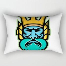 Poseidon Greek God Mascot Rectangular Pillow
