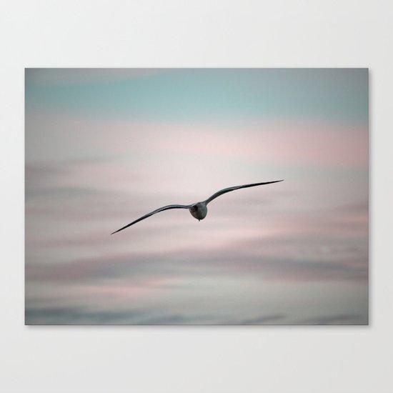 Twilight Seagull Canvas Print
