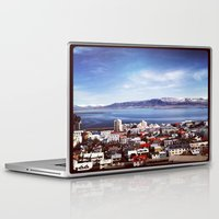 iceland Laptop & iPad Skins featuring Reykjavik, Iceland by tyler Guill
