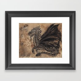 Dragon Coffee Framed Art Print